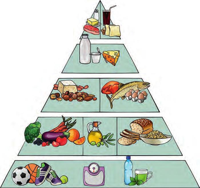 Pyramide des ingrédients régime méditerranéen